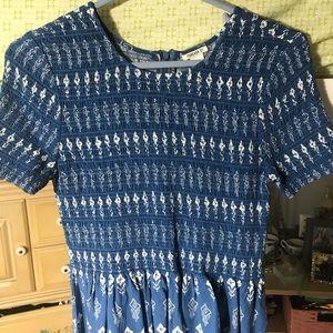 Blue & White Forever 21 Dress